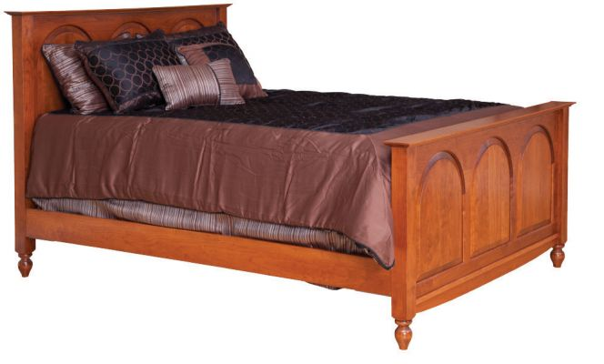 "Item #WA-816  <b>Warrington Queen <br>Panel Bed</b>  66""w x 87""d x 54""HB - 36""FB"