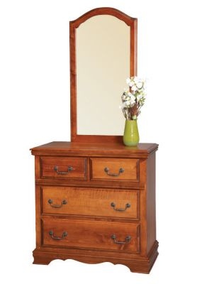 "Item #AH-109  <b>American Heritage Single Dresser</b>  36""w x 19""d x 35""h  Item #AH-209 <b>American Heritage Single Mirror</b> 22""w x 42""h"