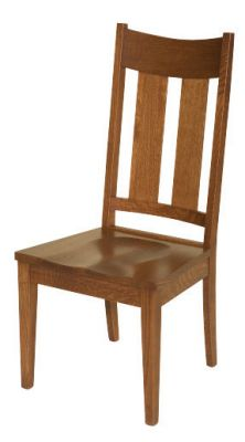 "#1670  <b>Portland Side Chair</b>  20"" x 18"" x 42"" <I>*Available with Leather or Fabric Seats</I>"