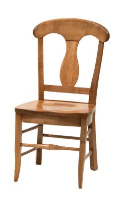 "#1490  <b>Napoleon Side Chair</b> 18-3/4"" x 17"" x 37-1/2"" <I>*Available with leather or fabric seats</I>"