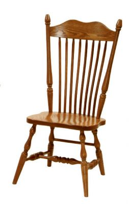 "#1210  <b>Hoosier Side Chair</b>  19"" x 18"" x 43"" <I>*Wood Seat Only</I>"