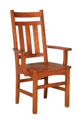 "#1045  <b>Montreal Arm Chair </b> 24-1/2"" x 17""x 41"" <I>Available with Leather or Fabric Seats </I>"