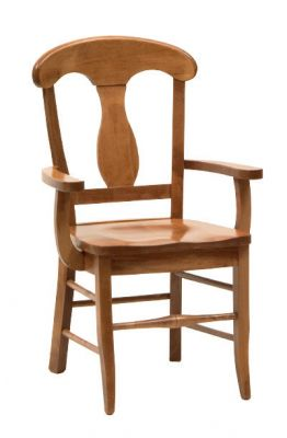 "#1495  <b>Napoleon Arm Chair </b> 24"" x 17"" x 37-1/2"" <I>*Available with leather or fabric seats</I>"