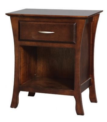 "Item #BRNO-214  <b>Brooklyn Open Bottom Nightstand</b>  25""w x 16""d x 27""h"