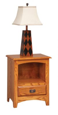 "Item #MON-217  <b>Monterey Nightstand w/ Open Bottom</b>  23""w x 16""d x 29""h"