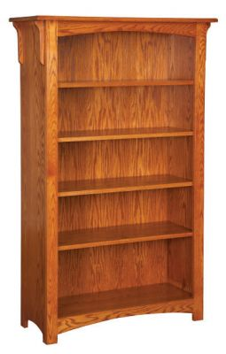 "#MIB-406  <b>6ft Mission Bookcase without Doors </b> 38"" x 14"" x 72"""