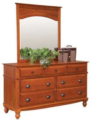 "Item #WADD-211  <b>Warrington Double Dresser </b> 64""w x 22""d x 37""h<p> Item #WAM-214  <b>Warrington Mirror </b> 42""w x 45""h"