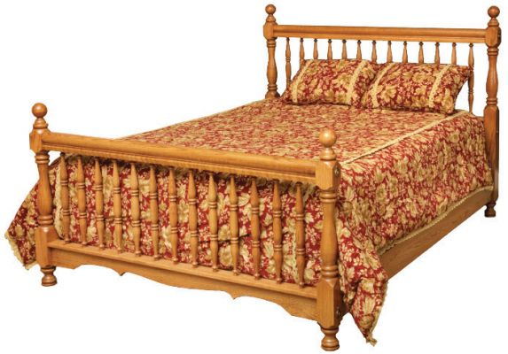 "Item #AH-347  <b>American Heritage Spindle Bed</b>  65""w x 87""d x 51""HB - 36""FB"