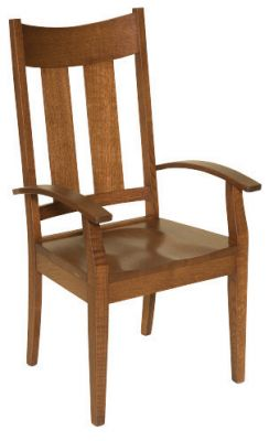 "#1675  <b>Portland Arm Chair</b>  22"" x 18"" x 42"" <I>*Available with Leather or Fabric Seats</I>"