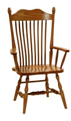 "#1215  <b>Hoosier Arm Chair</b>  21"" x 18"" x 43"" <I>*Wood Seat Only</I>"
