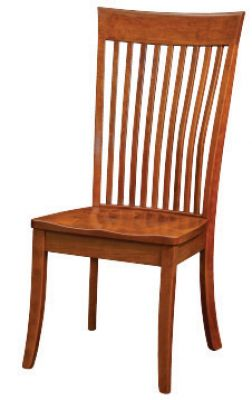 "#1610  <b>Bent Mannington<br>Side Chair </b> 19"" x 18"" x 42"" <I>*Available with Leather or  Fabric Seats</I>"