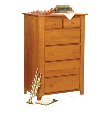 "Item #SHCD-209  <b>Shaker Chest of Drawers </b> 35""w x 22""d x 52""h"