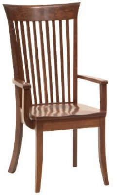 "#1625  <b>Mannington Arm Chair</b>  22"" x 18"" x 42"" <I>*Available with Leather or  Fabric Seats</I>"