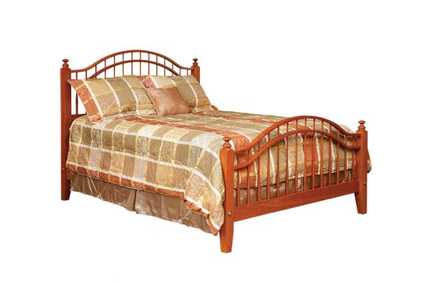 "Item #SWB-417 <b>Shaker Windsor Bed</b> 64""w x 86""d x 54""HB - 34""FB"
